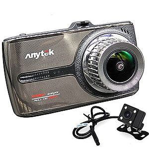 Camera auto DVR iUni Dash 66G, Touchscreen, Display IPS 3.5 inch, Dual Cam, Full HD, WDR, 170 grade, by Anytek imagine