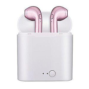 Casti Audio Wireless cu Bluetooth i7S Rose Tip in-ear pentru IOS si Android imagine