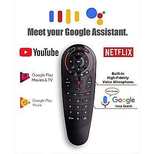 Telecomanda Techstar® Airmouse G30 Wireless, Clonare Telecomanda, Google Assistant, Voice Search, for TV Box, Android TV imagine