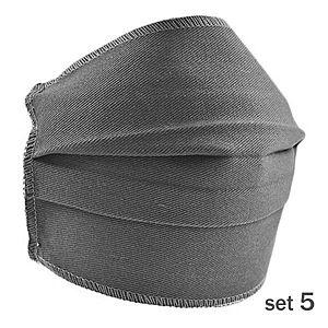 Set 5 Masti Fashion de Protectie Techstar® Reutilizabile 2 Straturi Polipropilena, Gri imagine