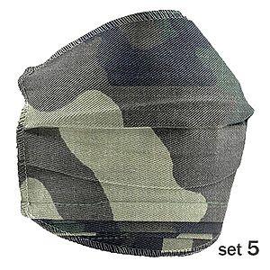 Set 5 Masti Fashion de Protectie Techstar® Reutilizabile 2 Straturi Polipropilena, Army imagine