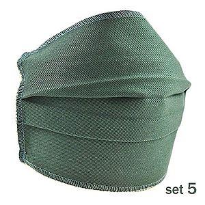 Set 5 Masti Fashion de Protectie Techstar® Reutilizabile 2 Straturi Polipropilena, Verde imagine