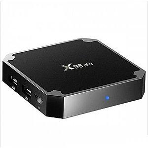 Mini PC Tv Box, X96 Mini, Android 9, UHD 4k, 2GB Ram DDR3, 16GB ROM, Quad-Core, 64Bit, Telecomanda imagine