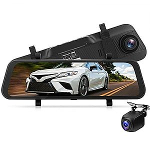 Camera Auto Dubla Oglinda iUni Dash A7, WDR, Touchscreen, Display 9.66 inch, Full HD, Night Vision imagine