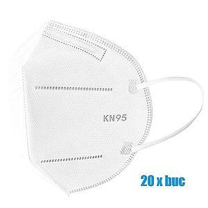 Set 20 bucati Masti de protectie de unica folosinta FFP2 KN95, 4 straturi imagine