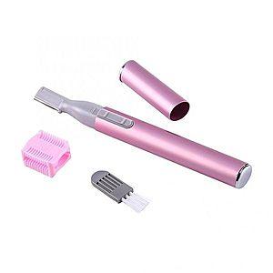 Trimmer Mini Techstar®, Facial, Compact, Cu Baterii, pentru Dame, Roz imagine
