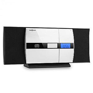 OneConcept V-15 CD stereo USB MP3 alarmă FM AUX negru imagine