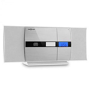 OneConcept V-15, alb, sistem stereo, CD, USB, MP3, FM, AUX, alarmă imagine