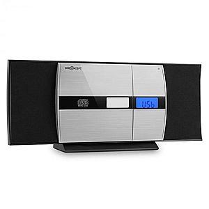 OneConcept V-15-BT Bluetooth stereo CD USB MP3 cu alarmă FM AUX negru imagine