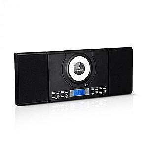 Auna Wallie, microsistem, CD player, bluetooth, port USB, telecomandă, negru imagine