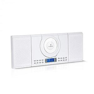 Auna Wallie, microsistem, CD player, bluetooth, port USB, telecomandă, alb imagine