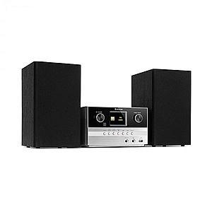 Auna Connect System S, sistem stereo + boxe, 20 W max., internet/DAB+, argintiu imagine