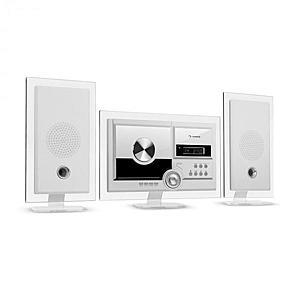 Auna Stereo Sonic, DAB + sistem stereo, DAB +, CD player, USB, BT, alb imagine