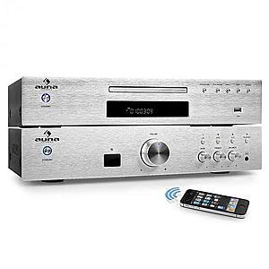 "Auna ""ELEGANCE TOWER BLUETOOTH"", argintiu, 2.0 kituri HIFI, CD-PLAYER MP3 + AMPLIFICATOR 600 W imagine"
