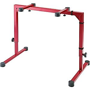 Konig & Meyer 18810 Table-Style Keyboard Stand Omega Ruby Red imagine