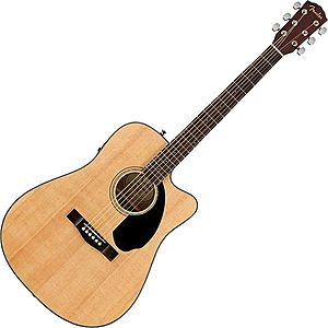 Fender CD-60SCE Dreadnought WN Natural imagine