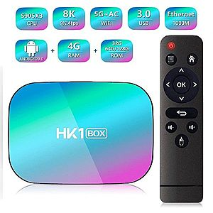 TV Box Techstar® HK1 BOX, Android 9.0, UltraHD 8K, 4K@ 60fps, 4GB RAM, 32GB ROM, 5G WiFi, Bluetooth 4.0, Cu IPTV, Model 2020 imagine
