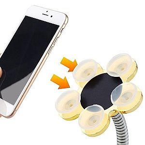 Suport flexibil pentru telefon sau tabletă, cu ventuze. + CADOU imagine