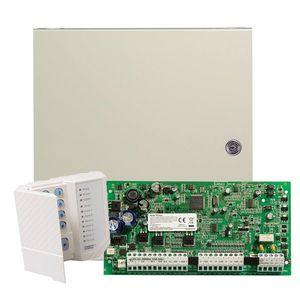 Centrala alarma antiefractie DSC Power PC1616 cu tastatura PC1555RKZ si carcasa metalica, 2 partitii, 6 zone, 48 utilizatori imagine