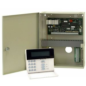 Centrala alarma antiefractie DSC Maxsys PC 6010 cu tastatura LCD 6501 si cutie metalica, 32 partitii, 16 zone, 1000 utilizatori imagine