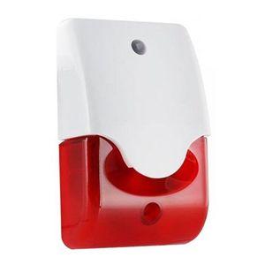 Sirena piezo stroboscopica de interior LD95, 110 dB, 150 flash/min, policarbonat imagine