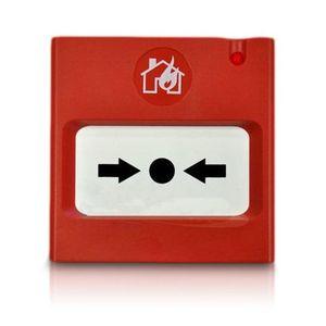 Buton de incendiu adresabil Teletek SENSOIRIS MCP150, aparent, izolator scurtcircuit, ABS imagine