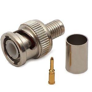Mufa BNC cu sertizare pentru cablu coaxial RG6 imagine