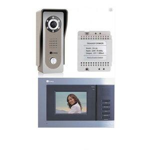 Set videointerfon Genway FS7V3, 3.5 inch, aparent, metal, vila imagine