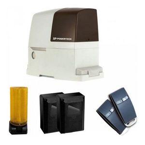 Kit automatizare poarta culisanta Powertech PL-1000, 1000 Kg, 8 m, 24 V imagine