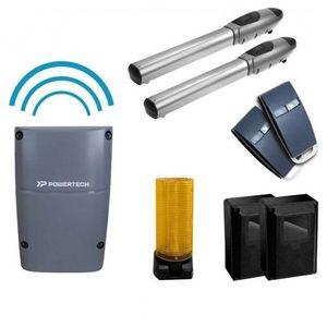 Kit automatizare poarta batanta Powertech PW-220S, 200 Kg/canat, 2.5 m/canat, 24 V imagine