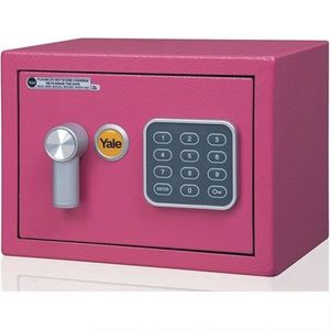 Mini seif rezidential YALE YSV/170/DB1/P, roz, 100000 combinatii imagine