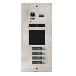 Videointerfon exterior modular DMR21-S4-F1, 4 familii, ingropat, vila imagine