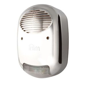 Sirena de exterior cu flash Inim IVY-FM, 110 dB, anti-spuma, aspect cromat imagine