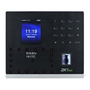 Terminal de control acces si pontaj Zkteco SILKBIO-101-TC, 800 fete, 1500 amprente, 2.8 inch imagine