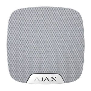 Sirena de interior wireless AJAX HomeSiren WH, 150 dB, antisabotaj, 5 ani imagine