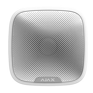 Sirena de exterior wireless AJAX StreetSiren WH, 150 dB, IP54, 1500 m imagine