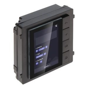 Modul de extensie cu display pentru videointerfon Hikvision DS-KD-DIS, aparent/ingropat, LCD imagine