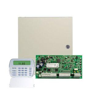 Centrala alarma antiefractie DSC Power PC 1616ICON cu tastatura PK5501, 2 partitii, 6 zone, 48 coduri utilizatori imagine