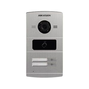 Videointerfon de exterior Hikvision DS-KV8202-IM, 1.3 MP, card reader, ingropat, 2 familii imagine