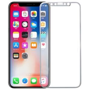 Folie Protectie Sticla Securizata Zmeurino Full Body 3D Curved pentru Apple iPhone X (Alb) imagine