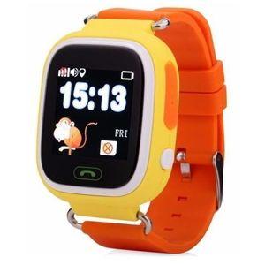 Smartwatch iUni Kid100 9962-2, 1.22inch, GPS, Bratara silicon, dedicat pentru copii (Portocaliu) imagine