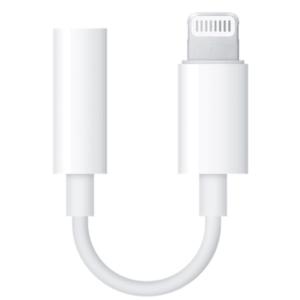 Adaptor Apple MMX62ZM/A, Lightning – Jack 3.5 mm (Alb) imagine