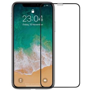 Folie Protectie Sticla Securizata Zmeurino Full Body 3D ZMVIP_IPHXSMAX pentru iPhone Xs Max (Transparent/Negru) imagine
