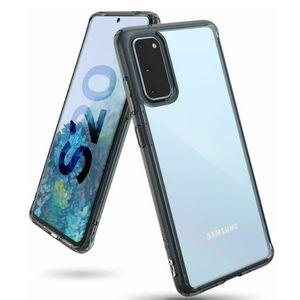 Husa Samsung Galaxy S20 Ringke Fusion Transparent / Fumuriu imagine