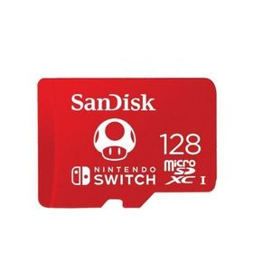 Card de memorie SanDisk Nintendo Switch, microSDXC, 128GB, UHS-I, V30, U3, Class 10 imagine