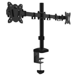 Suport 2 monitoare Cabletech UCH0212, 13inch - 27inch (Negru) imagine