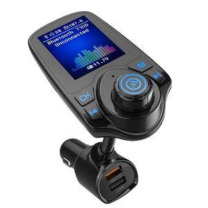 Modulator FM Techstar® T10D, Wireless, Bluetooth 3.0, Microfon Integrat, Quick Charge 3.0, Slot MicroSD, AUX IN/OUT imagine
