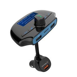 Modulator FM Techstar® T36, Wireless, Bluetooth 3.0, Microfon Integrat, Quick Charge 3.0, Afisare Voltaj, Slot MicroSD imagine
