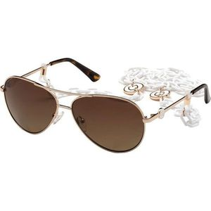 Guess GU7641 28H 60 Shiny Rose Gold/Brown Polarized imagine