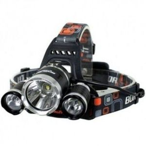 Lanterna frontala de cap 3 X LED CREE XML, T6 imagine